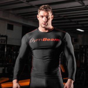 Kompresní tričko Black/Red - GymBeam