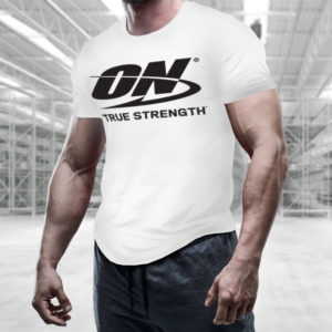 Tričko True Strength White - Optimum Nutrition