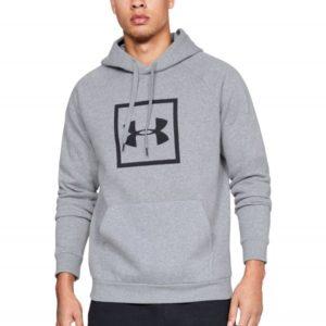 Mikina Rival Fleece Logo Hoodie Grey - Under Armour