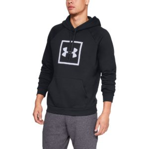 Mikina Rival Fleece logo Hoodie Black - Under Armour