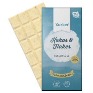 Bílá čokoláda s kokosem a vločkami XUKKOLADE - Xucker