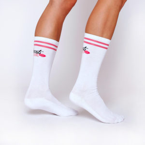 Ponožky High Socks White - BeastPink
