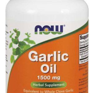 Česnekový olej 1500 mg - Now Foods