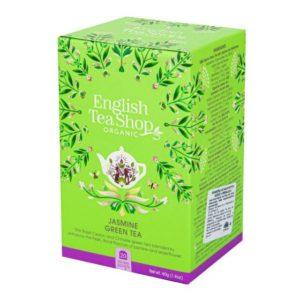 BIO Zelený čaj s jasmínem a květem bezu - English Tea Shop