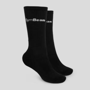 Ponožky 3/4 Socks 3Pack Black - GymBeam