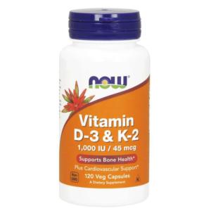 Vitamín D3 & K2 - NOW Foods