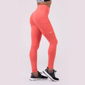 Dámské legíny High waist Fit&Smart Peach - NEBBIA