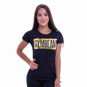 Dámské tričko Box Logo Black Gold - GymBeam