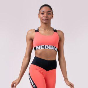 Sportovní podprsenka Power Your Hero Peach - NEBBIA