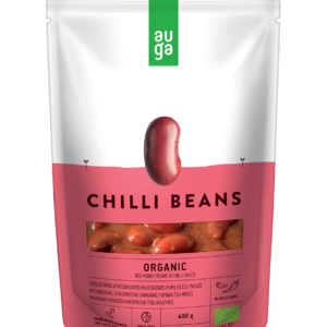 BIO Červené fazole v chilli omáčce - Auga