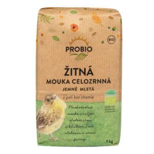 BIO Žitná celozrnná jemná mouka - Probio