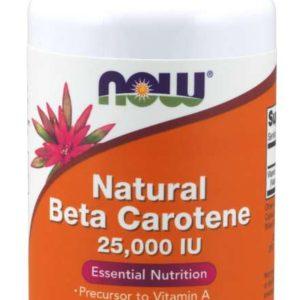 Betakaroten Natural 7500 mcg - NOW Foods