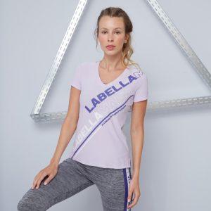 Dámské tričko Color Block Purple - LABELLAMAFIA