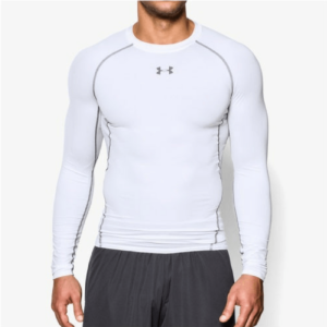 Kompresní tričko HG Armour LS White - Under Armour