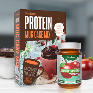 Proteinový Mug Cake Mix 500 g - GymBeam + dárek