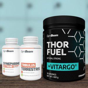 Předtréninkový stimulant Thor Fuel + Vitargo 600 g - GymBeam + dárek