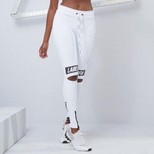 Dámské legíny Essential Knee Slit White - LABELLAMAFIA