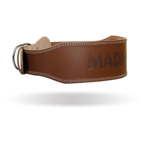 Fitness opasek Full Leather Chocolate Brown - MADMAX