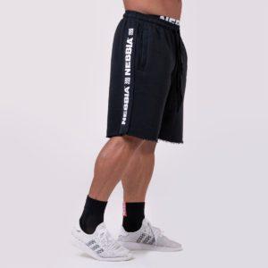 Pánské šortky Lampas Black - NEBBIA