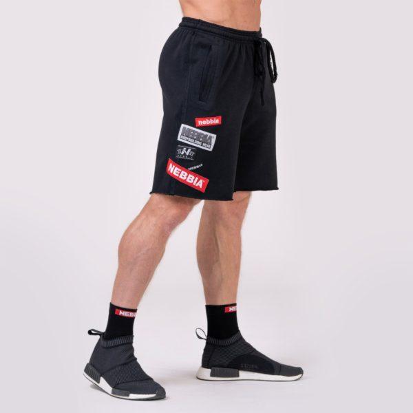 Pánské šortky Logo Tapping Black - NEBBIA