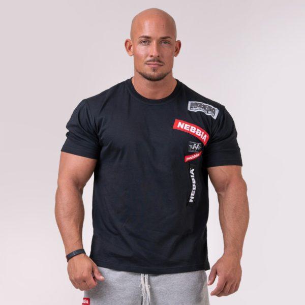 Tričko Logo Tapping Black - NEBBIA