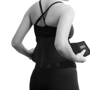 Bederní neoprenový pás Slimming Belt Black L - MADMAX
