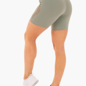 Dámské šortky Hype High Waisted Mesh Olive XL - Ryderwear