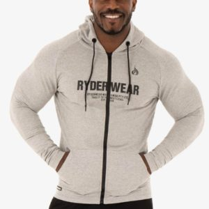 Mikina Zipper Hoodie Focus Grey XL - Ryderwear