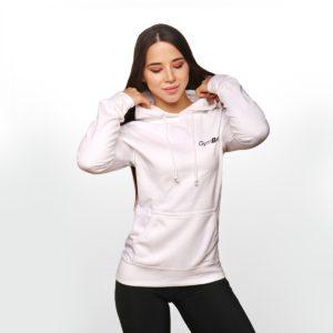 Dámská mikina PRO Hoodie White XL - GymBeam