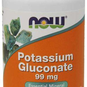 Glukonát draselný 99 mg 100 tab. - NOW Foods