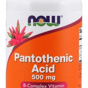Kyselina panthotenová 500 mg 100 kaps. - NOW Foods