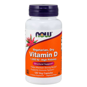 Vitamín D 1000 IU 120 kaps. - NOW Foods