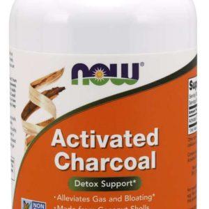 Aktivní uhlí 200 kaps. - NOW Foods