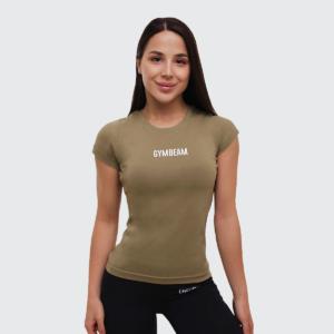 Dámské tričko FIT Olive XL - GymBeam