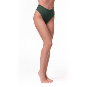 High Waist Retro Bikini spodní díl green M - NEBBIA