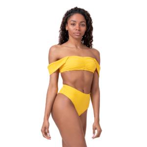 Miami Retro Bikini vrchní díl yellow M - NEBBIA
