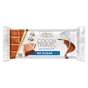 Mléčná čokoláda bez přidaného cukru Cocoa travel 90 g - Baron