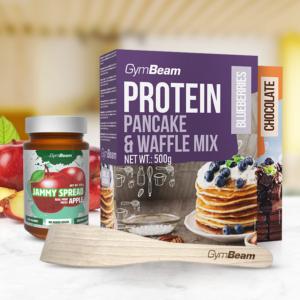 Proteinové palačinky Pancake & Waffle Mix 500 g borůvky - GymBeam