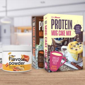 Proteinový Mug Cake Mix 500 g čokoláda a čokoládové kousky - GymBeam