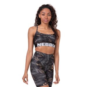 Sportovní podprsenka Earth Powered black M - NEBBIA
