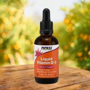 Tekutý vitamin D-3 59 ml - NOW Foods
